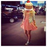 Платье клетчатое