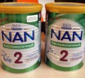 2 банки NAN 2 кисломолочный