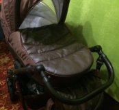 Коляска 2 в 1 Rudis Sibis Leather с ЭКО кожей