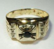 Мужской золотой перстень 21 мм