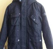 Продам утепленное пальто для мальчиков next 134