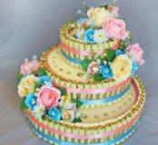 Букеты, торты, композиции из конфет и цветков,