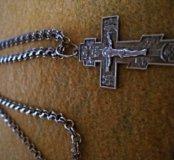 Цепочка с крестиком серебро 925
