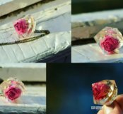 Новая подвеска кулон кристалл с розой ручная работ