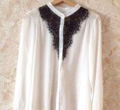 Белая тонкая блузка( новая)