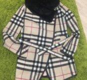 Пальто с воротником (мех кролика)