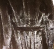 Черная Норковая шуба Furs