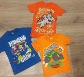 Новые детские футболки с рисунками,надписями 2,3г