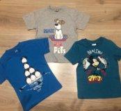 Новые детские футболки с животными и рисунками 2,3