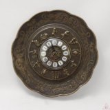 Часы настенные - тарелка Бронза