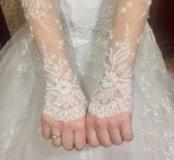 Свадебное платье ручная работа новое с витрины