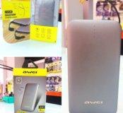 Акб-USB Awei P20k 8000mah серый
