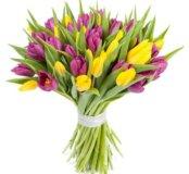 Тюльпаны на 8 марта! 101 шт.