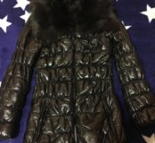 Мягкая куртка мех енот 42-44