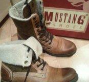 mustang ботинки кожа