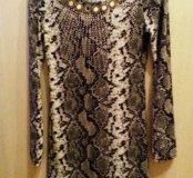 Новое платье змеиного цвета
