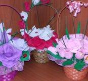 Карзинки с цветами-канфетами...