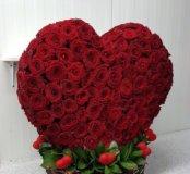 Сердце из роз 3D