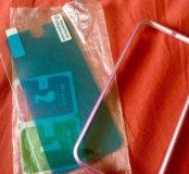 Чехол-бампер и защитное стекло на айфон 6,6s