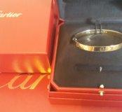 Новый золотой браслет Cartier love 38.15 гр. 750 п