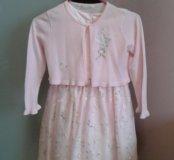 Платье очень красивое с накидкой на 5-7 лет