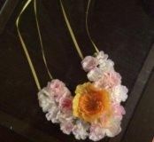 Воротник украшение на шею цветы