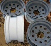 Силовые железные диски на Тайоту Ланкрузер R15
