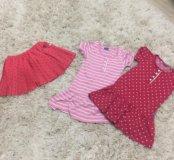 Вещи на девочку платье и юбка