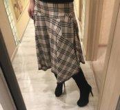 Асимметричная юбка burberry