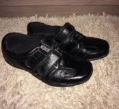 Мокасины ботинки кожаные