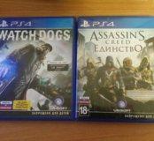 Игры на PS4 Watchdogs и Assassin creed:единство