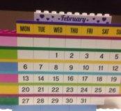Лего Календарь. Lego Friends Brick Calendar.