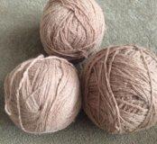 Нитки для вязания ( пряжа шерсть)