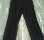 Теплые брюки, с манжетом, на подкладке