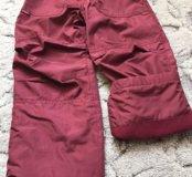 Утеплённые брюки на девочку