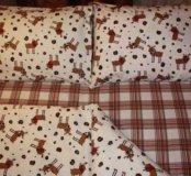 Новое в упаковке фланелевое постельное белье