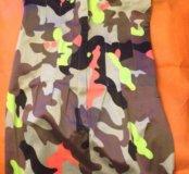 Новое платье с цветным камуфляжем