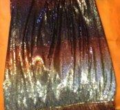 Праздничное /вечернее платье в пайетках. Новое. Xs