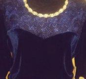 Платье вечернее велюровое
