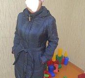 Болоневое пальто на тонком синтепоне