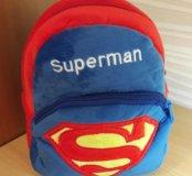 Красивый новый плюшевый рюкзак Superman для детей