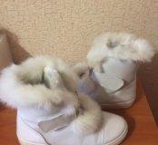 Ботинки сверху мех кролик