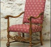 Шикарное старинное трон кресло из Голландии