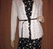 Платье + ажурный кардиган