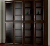 Четырехстворчатый шкаф для книг