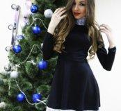 Платье воротничок