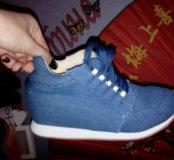 Джинсов ботинки