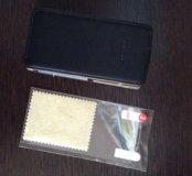 Xiaomi mi4 С. кожаный чехол