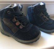 Ботинки замшевые 20р