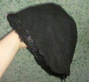 Женская замшевая шапка